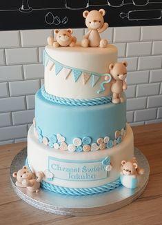 Baby Shower Cakes, Desserts, Simple Gender Reveal, Cakes, Cakes Baby Showers, Tailgate Desserts, Deserts, Postres, Dessert