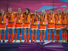 The Netherlands' national women's field hockey team. Beautiful!!!