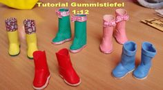Puno's Minis 1:12: Several tutorials as well as this one-making rain boots from…