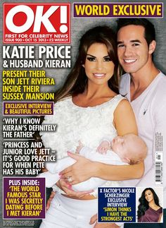 5d4e80dacf Katie Price and husband Kieran with their new baby on the cover of OK!  Magazine