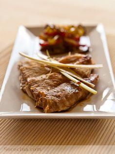 Cerdo con salsa teriyaki y pimientos - Secocina