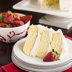 Almond Cake with Amaretto Filling on MyRecipeMagic.com
