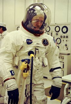 goodluckmrgorsky:  Apollo 14 Astronaut Roosa Undergoes Space Suit Check