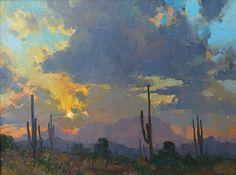 Vintage Sunset by Bill Cramer Oil ~ 18 x 24