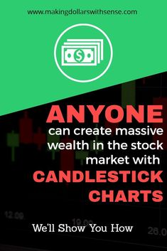 Candlestick charts is the easiest and most effective way to create wealth from the stock market. Candlestick Chart, Dividend Stocks, Day Trader, Investing Money, Learn To Read, Way To Make Money, Stock Market, Candlesticks, Need To Know