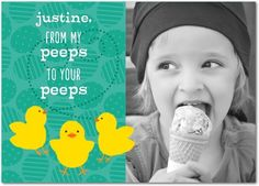 Peeps to Peeps - Personalized Easter Cards from treat.com