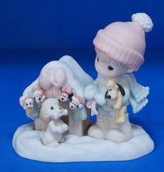 Minnie Mickey Donald Pluto Magic Season Disney Precious Moments Figurine 710050 #PreciousMoments