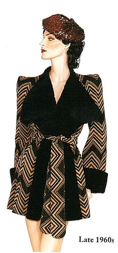Biba coat, late 60s...yes and yes everday yes to this fantatic smoking jacket inspired gem...b♡