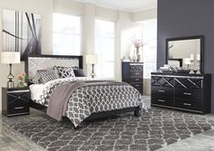Fancee Queen Panel Bed w/ Dresser and Mirror, /category/bedrooms/fancee-queen-panel-bed-w-dresser-and-mirror.html