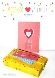Free valentine printable - freebie - DIY - cut out valentine card - printable labels - wrapping paper - gift wrapping - Valentijn. Available in Dutch & English More DIY & free printables on www.moodkids.nl