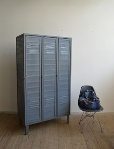 Old locker (artKRAFT Industrial design) Loft Design, Industrial Design, Lockers, Locker Storage, Cabinets, Closet, Furniture, Home Decor, Armoires