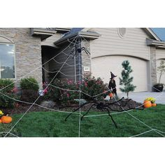 halloween giant spider web outdoor decor large yard prop trick or treat spooky