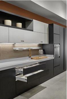 Modern Luxury Kitchens For A Grand Kitchen Luxury Kitchen Design, Kitchen Room Design, Best Kitchen Designs, Kitchen Cabinet Design, Luxury Kitchens, Interior Design Kitchen, One Wall Kitchen, Kitchen White, Classic Kitchen