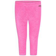 Guess Girls Pink Lace Leggings