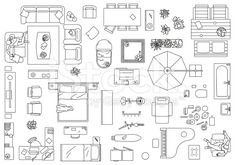 Furniture, Floor Plan royalty-free furniture floor plan stock vector art & more images of appliance The post Vector illustration of furniture to make a floor plan of a house. Jpg& appeared first on Dekoration. Floor Plan Sketch, Floor Plan Drawing, Floor Plan Layout, Design Furniture, Furniture Layout, Furniture Plans, Furniture Stores, Luxury Furniture, The Plan