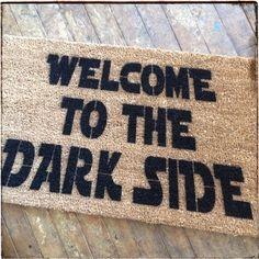 Dark Side doormat welcome doormat-novelty geek stuff fan art  WELCOME: