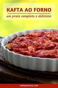 Kafta ao forno - Uma receita deliciosa feita com camadas de carne moída e batata. Um prato completo e simplesmente delicioso.