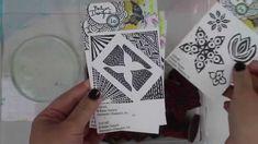 """Watch Julie Balzer play with the 4"""" Round Gelli Plate + Balzer Designs Stamps!"""