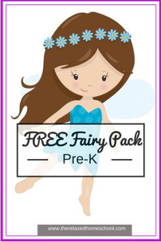 FREE Pre-K Fairy Lesson Pack! -- including coloring, letter, number, draw lines. Preschool Learning Activities, Preschool Curriculum, Preschool Kindergarten, Toddler Preschool, Preschool Activities, Homeschool, Early Learning, Learning Time, Learning Tools