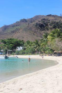 Perfect beach in front of Blue Lagoon Resort on Nacula Island in the Yasawa Islands of Fiji