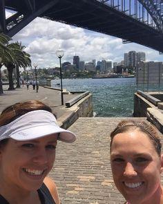 Lunchtime runfie under the Harbour Bridge with @kaymariearr #run #running #runner #sydney #bridge #harbourbridge #sydneyharbourbridge #lunch by hannahquade http://ift.tt/1NRMbNv