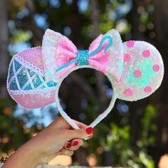 Bo Peep Toy Story Disney Sequin Minnie Mickey Ears Headband - The Trend Disney Cartoon 2019 Diy Disney Ears, Disney Minnie Mouse Ears, Disney Hair, Disney Clothes, Disney Shirts, Disney Outfits, Barbie Clothes, Disney Headbands, Ear Headbands