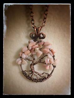Tree of life, albero della vita in opale rosa