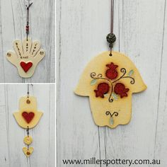 Handmade Hamsa by Miller's Pottery Australia