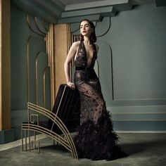 Lily collins photographed by Mark Seligner for Vanity Fair Oscar Party Portraits. Pinned by @lilyriverside