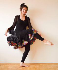 Black Crochet Summer Dress от subrosa123 на Etsy
