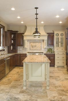 Kitchen travertine floor Design Ideas, Pictures, Remodel and Decor