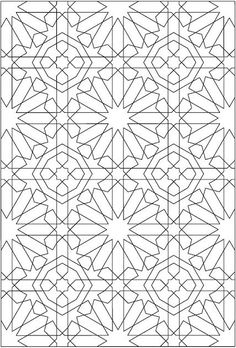 Alhambra coloring pages ~ Free Coloring/Painting Pages: 2 Geometric Designs ...