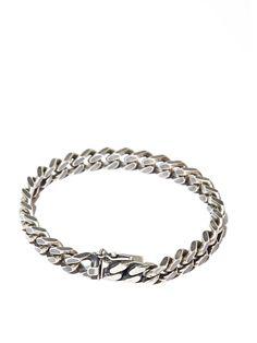 Saint Laurent Mens Silver Chain Bracelet Acce