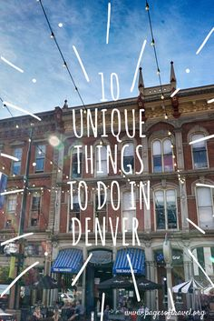 Check out these top 10 unique things to do in Denver, Colorado. As in any city there are many remarkable things to do while visiting Denver, Colorado! Fort Collins, Aspen, Denver Travel, Travel Usa, Usa Roadtrip, Denver Vacation, Weekend In Denver, Travel Oklahoma, Hiking In Denver Colorado
