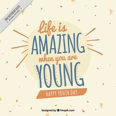 Fundo para o dia da Juventude com uma citação agradável