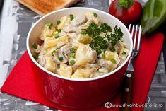 salata-de-cartofi-cu-ciuperci Healthy Food, Healthy Recipes, Romanian Food, Potato Recipes, Potato Salad, Foodies, Potatoes, Cooking Recipes, Vegan