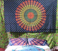 Sunflower Mandala Twin Tapestry