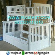tempat tidur anak cantik, tempat tidur anak cat duco, tempat tidur anak dari kayu, tempat tidur anak informa
