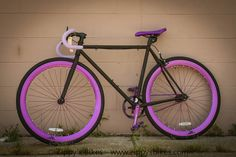 black and purple fixie bike bicycle Zycle fit