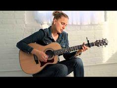 Morley and her Luna Americana parlor guitar