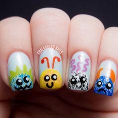 Nail Art Monster Buddies Tutorial