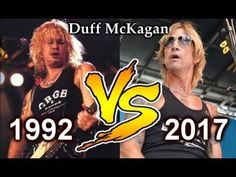 Duff McKagan (1992) VS Duff McKagan (2017) How Much Old Duff McKagan ?