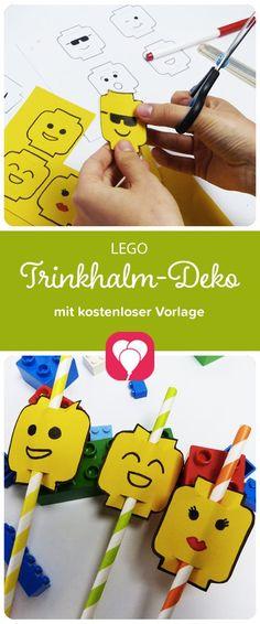 Trinkhalme verzieren im Lego-Stil Kennst Du schon diese süßen Lego-Männchen als Trinkhalm-Deko? Auf blog.balloonas.com haben wir ein paar tolle Lego-Party-Ideen für Dich zusammen gestellt. Wie macht man diese lustigen Lego-Köpfe für Strohhalme? Oder Lego-Köpfe aus Marshmallows? Oder die passenden Lego-Gastgeschenke-Tüten? Wie es geht, das zeigen wir Dir auf blog.balloonas.com #kindergeburtstag #motto #mottoparty #geburtstag #kinder #party #lego #essen #food #gastgeschenke