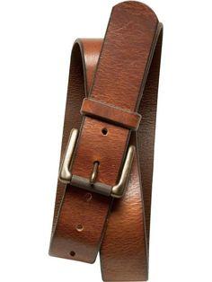 Tumbled Italian Leather Belt | Banana Republic