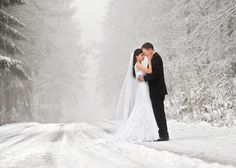 People 2048x1463 weddings wedding dress suits marriage winter snow road