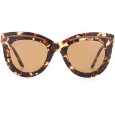 Bottega Veneta Tortoiseshell Cat-Eye Sunglasses ($330) ❤ liked on Polyvore featuring accessories, eyewear, sunglasses, green, tortoise cat eye sunglasses, bottega veneta sunglasses, bottega veneta, bottega veneta glasses and cateye sunglasses