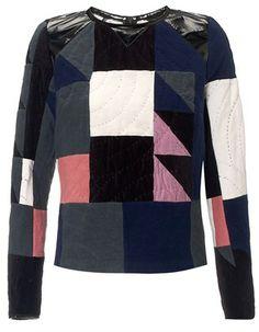 Patchwork Quilted Sweatshirt Jen Kao