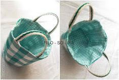 filo-so-pia: Cestini di stoffa Sewing Basics, Coin Purse, Quilts, Wallet, Fabric, Handmade, Crafts, Accessories, Fabric Basket
