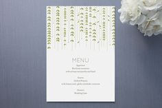 WILLOW TREE Menu by sweet street gals at minted.com