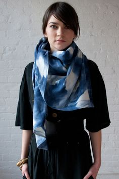 I picture myself daydreaming in this scarf.